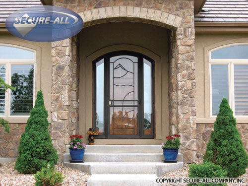Security Doors Security Storm Doors Wrought Iron Secure All